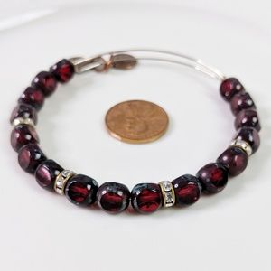 Alex and Ani Crimson Red Eden Beaded Bracelet Rare